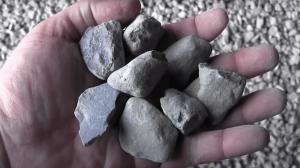 hand full of rocks